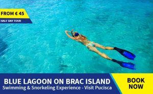 Blue lagoon Brac tour from Omis