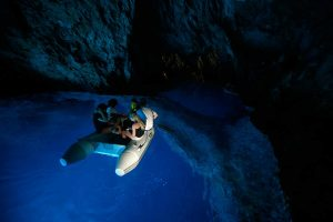 The color of the Blue Cave on Bisevo