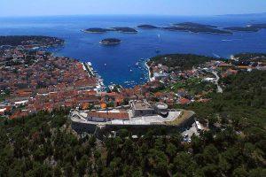 Spanish fortress, Hvar and Pakleni islands
