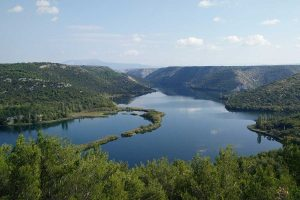 Krka river canyon
