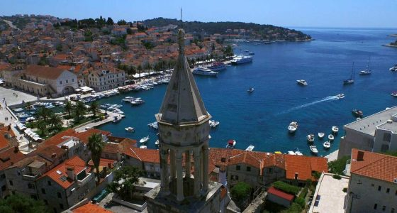 View from Hvar's bell tower