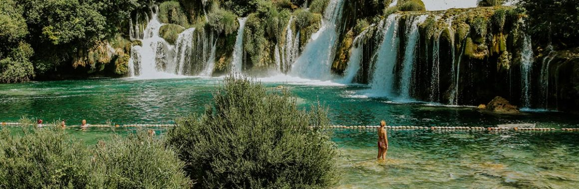 swimming-by-krka-waterfalls