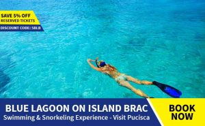 Tour from Omis to Blue Lagoon Brac and Pucisca