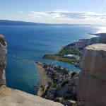 view of sandy beach in Omis from Mirabella fortress