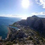 View of Omis and Omis beach from fortress