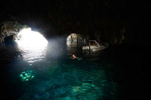 view from inside the green cave, vis croatia