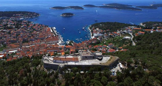 Spanish fortress, Hvar and Pakleni islands