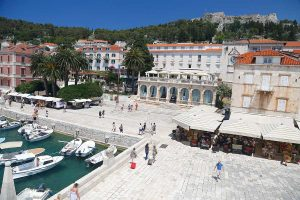 Promenade in Hvar and Cultural buildings