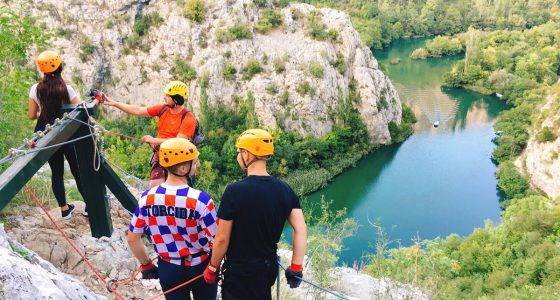preparing-to-go-down-the-zipline-over-cetina-river