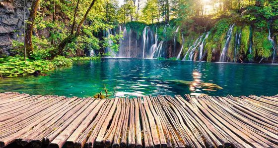 Plitvice Lakes in spring