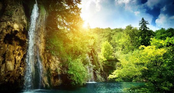 Plitvice Lakes in summer