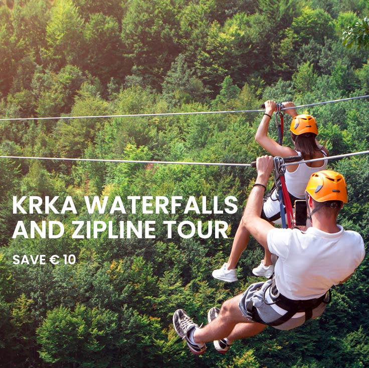 Combo Saver: Krka and Zipline tour
