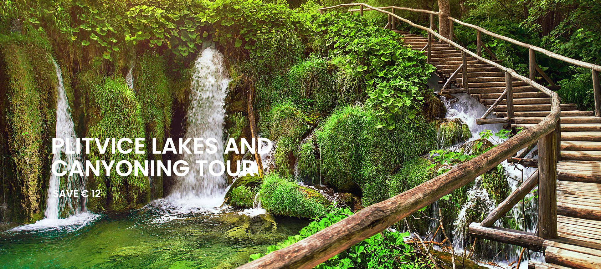 Combo Saver: Plitvice Lakes and Canyoning tour