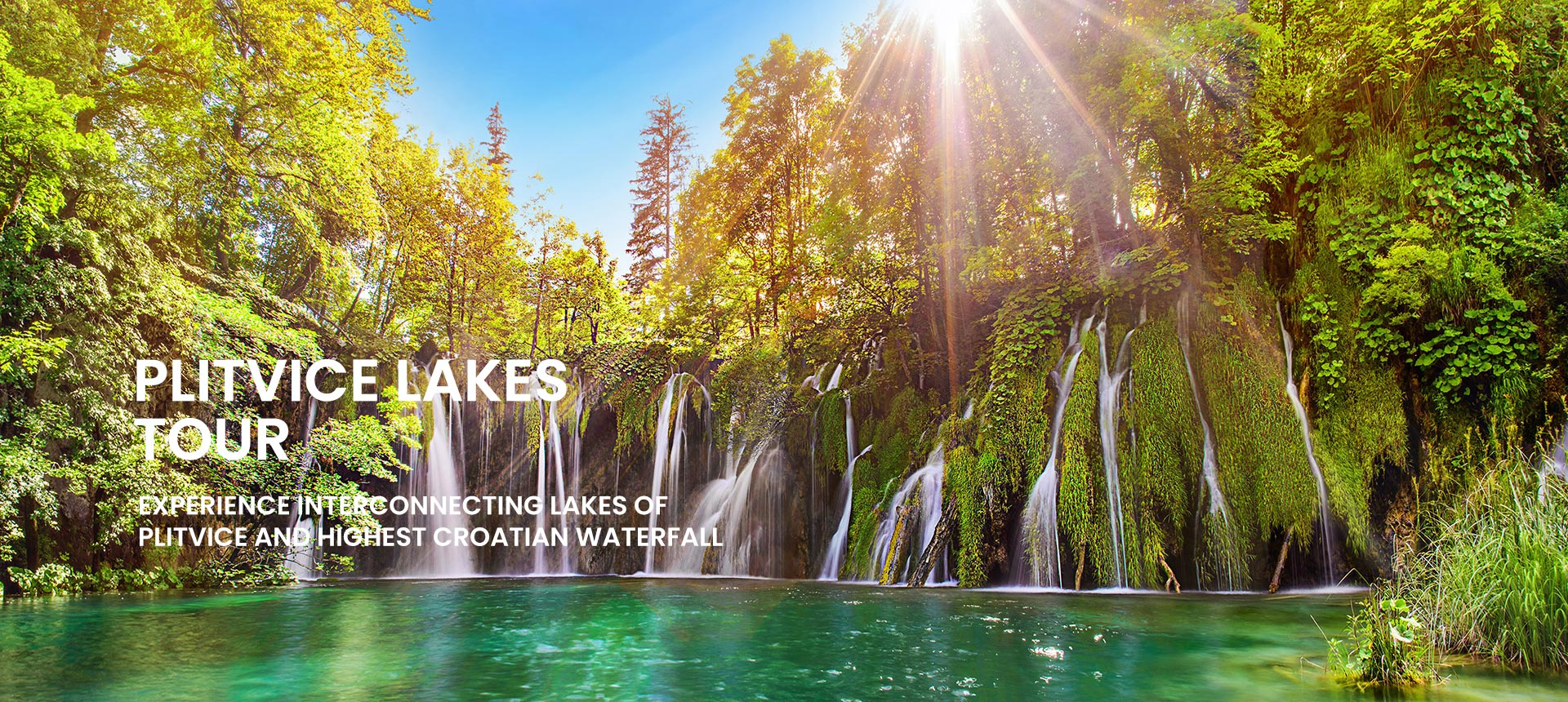 Plitvice lakes tour from Omiš